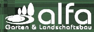 alfa gartenbau logo weiss